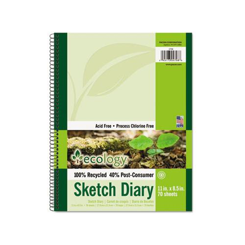 Ecology Sketch Diary, 60 Lb, 11 X 8.5, White, 70 Sheets