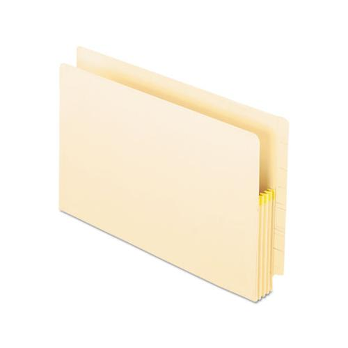 "Manila Drop Front Shelf File Pockets, 3.5"" Expansion, 25 Sections, Legal Size, Manila, 25-box"
