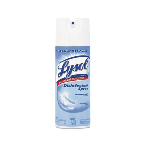 Disinfectant Spray, Crisp Linen Scent, Liquid, 12.5oz Aerosol, 12-carton