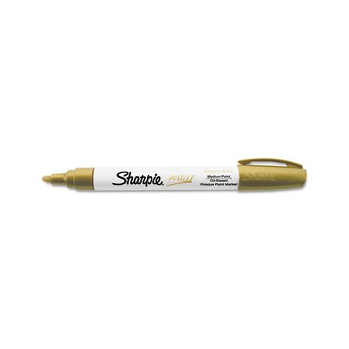 Permanent Paint Marker, Medium Bullet Tip, Gold