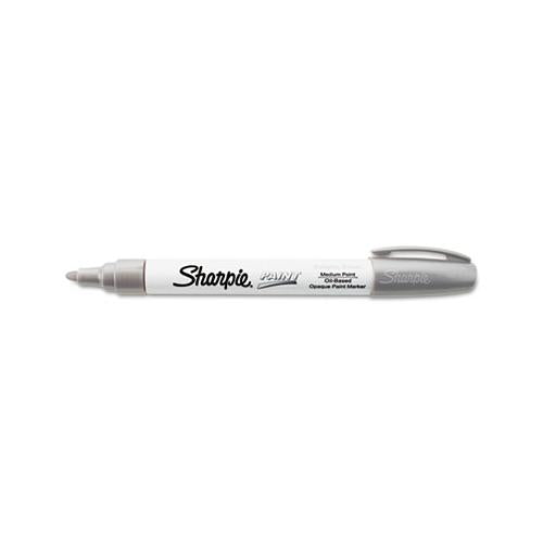 Permanent Paint Marker, Medium Bullet Tip, Silver