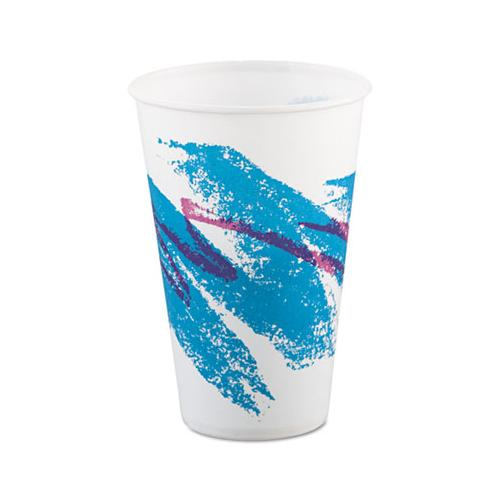 Jazz Waxed Paper Cold Cups, 12oz, Tide Design, 2000-carton