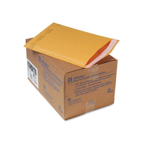 Jiffylite Self-seal Bubble Mailer, #3, Barrier Bubble Lining, Self-adhesive Closure, 8.5 X 14.5, Golden Kraft, 25-carton