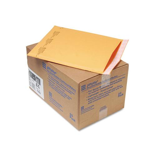 Jiffylite Self-seal Bubble Mailer, #4, Barrier Bubble Lining, Self-adhesive Closure, 9.5 X 14.5, Golden Kraft, 25-carton