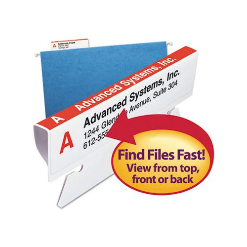 "Viewables Hanging Folder Tab And Label Bulk Pack Refill, 1-3-cut Tabs, Assorted Colors, 3.5"" Wide, 100-box"