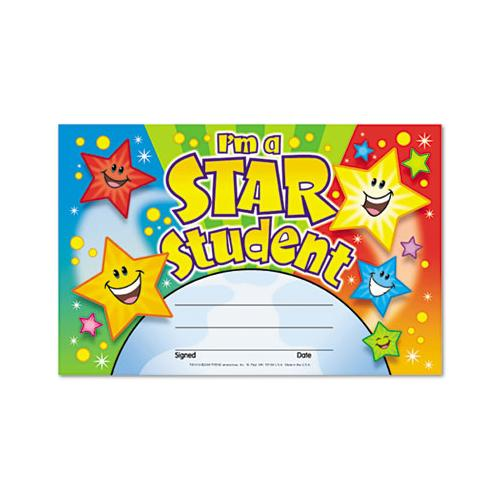 Recognition Awards, I'm A Star Student, 8.5w By 5.5h, 30-pack