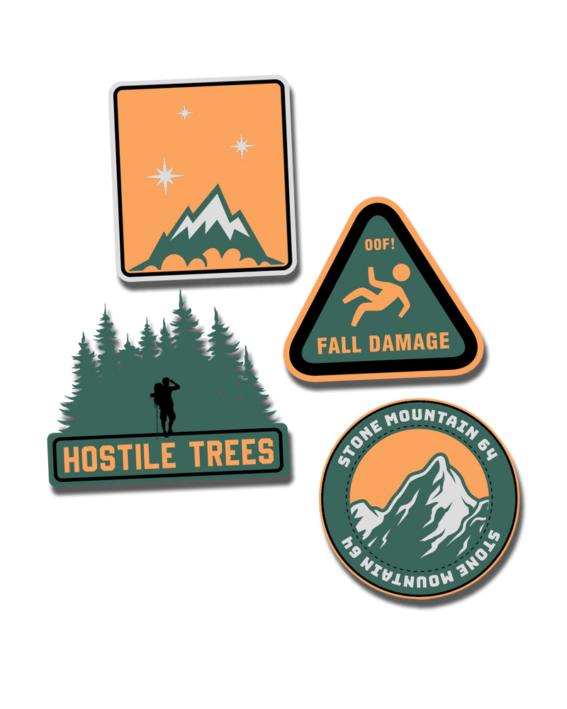 StoneMountain64 Camping Signs (4 pack)