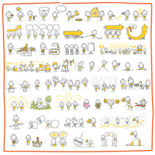 Load image into Gallery viewer, Part 2) 50 Yellow Stick-Figures Bundle #51-#100