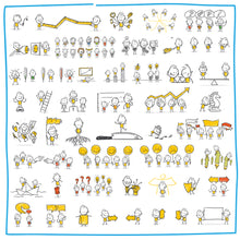 Load image into Gallery viewer, Part 4) 50 Yellow Stick-Figures Bundle #151-#200