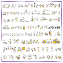 Load image into Gallery viewer, Part 6) 50 Yellow Stick-Figures Bundle #251-#300