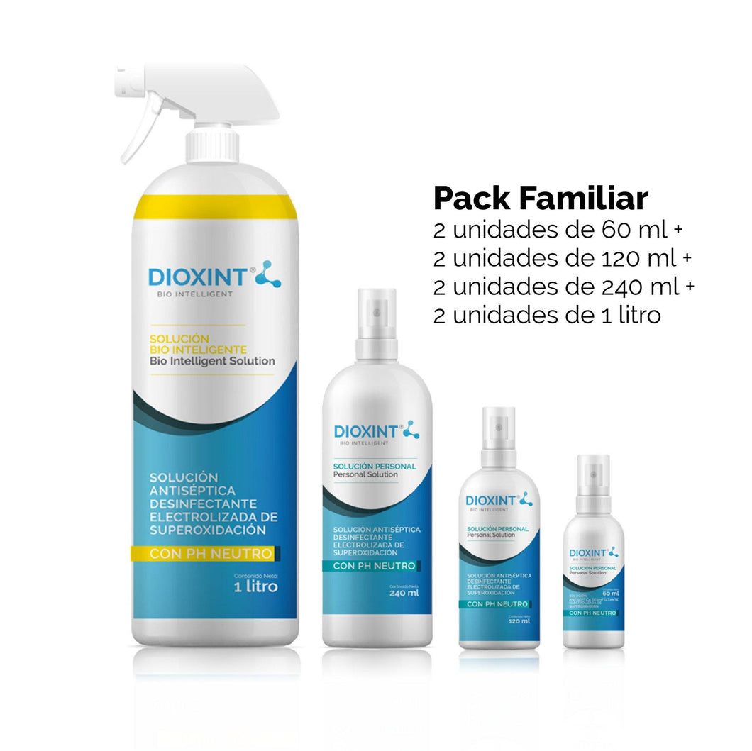 Pack Familiar x8 - Limpiador desinfectante y sanitizante. - Dioxint