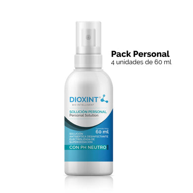 Pack personal 60ml- Limpiador desinfectante y sanitizante. - Dioxint