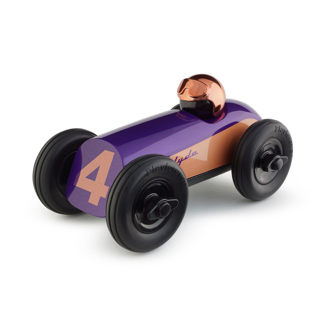Midi Race Car Clyde - Purple w/Copper Helmet
