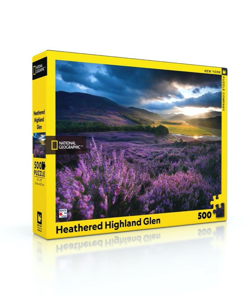 Heathered Highland Glen - Rompecabezas 500 piezas