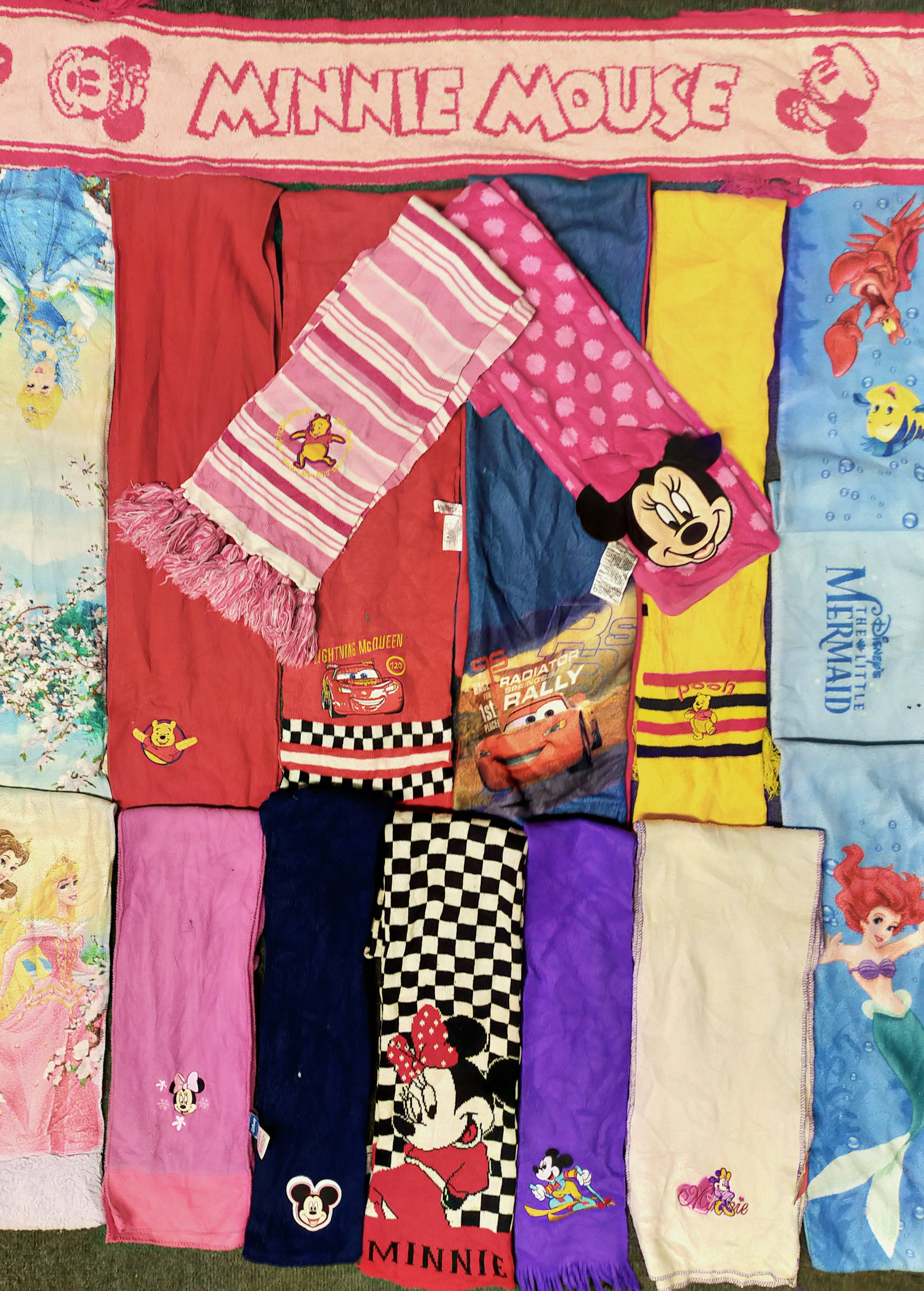 vintage cartoon mix scarves