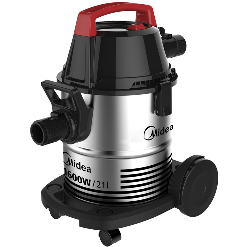 MIDEA Wet&Dry Vacuum Cleaner 21L Capacity 1600 W/Silver