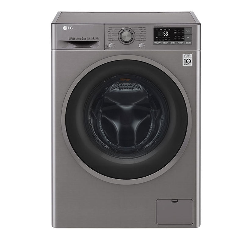 Front Load Washer 9kg, Direct Drive Motor, 6 Motion, TurboWash , Silver Color