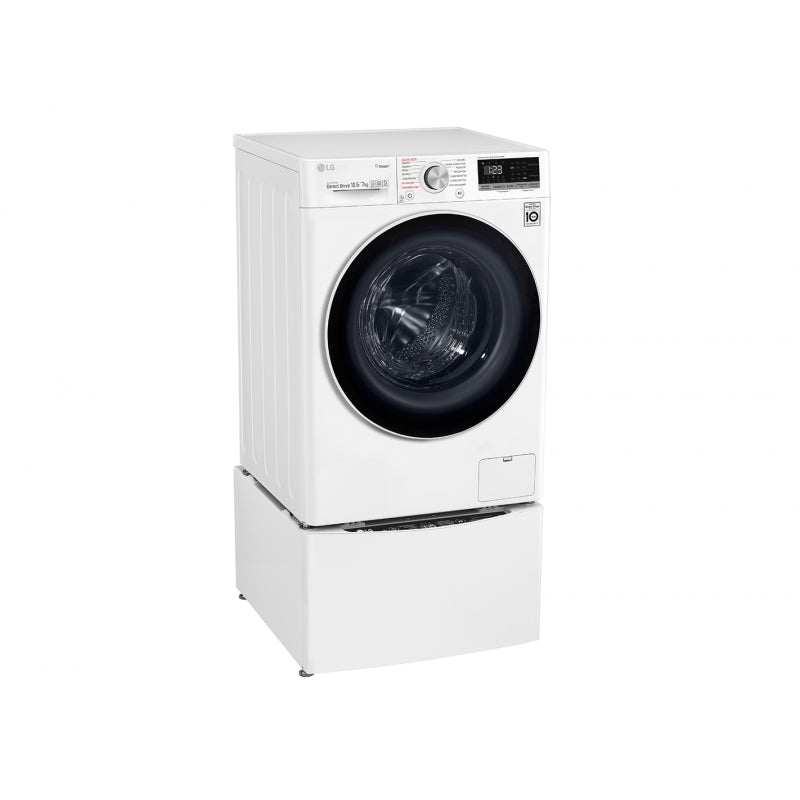 LG TwinWash 10.5/7KG WM/Dryer 1400 RPM White 2 KG Mini Washer