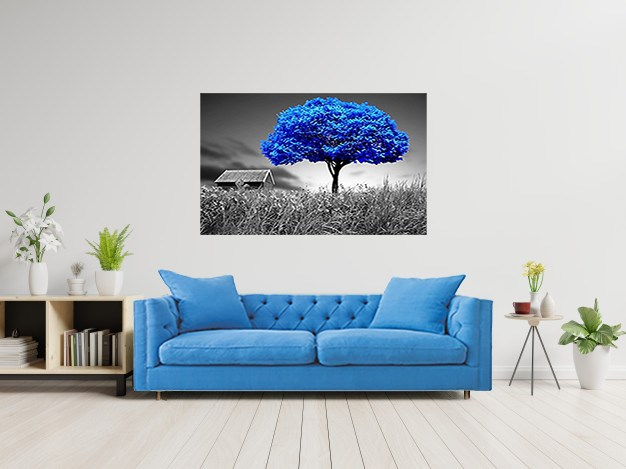 Blue Tree Canvas Painting