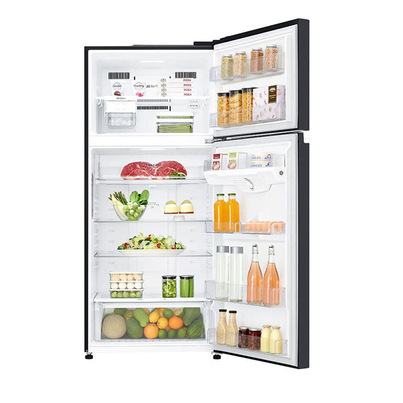 Top Mount Refrigerator 547L Gross Capacity, Inverter Linear Compressor, Door Cooling+™, Black Glass Color