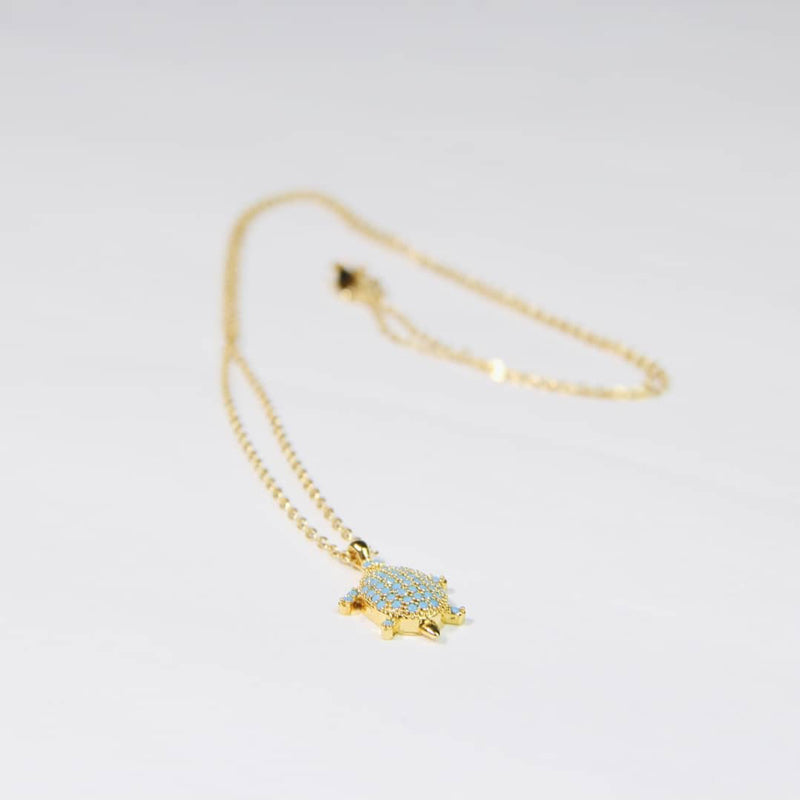 Gold Plated Necklace With Sea-turtle Pendant