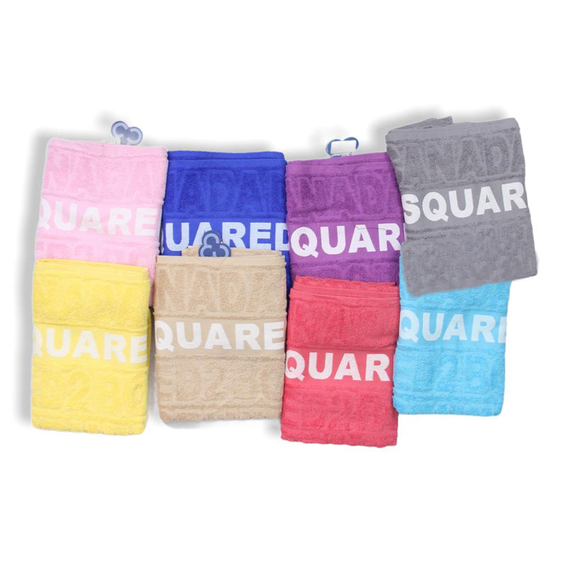 Cotton Towel with DSQUARED2 Pattern 65x135 cm