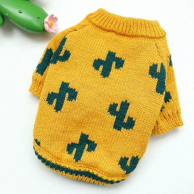 Cactus Dog Sweater