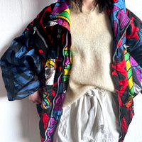 80s CRE-ACT BY RAINER ENGEL Ski Jacket, Crazy pattern bomber, made in Italy