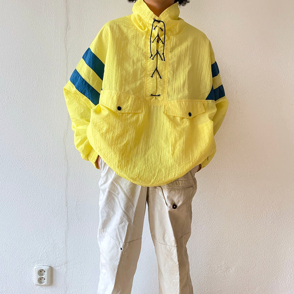 90s Lace-up Lemon yellow , NOS , Germany