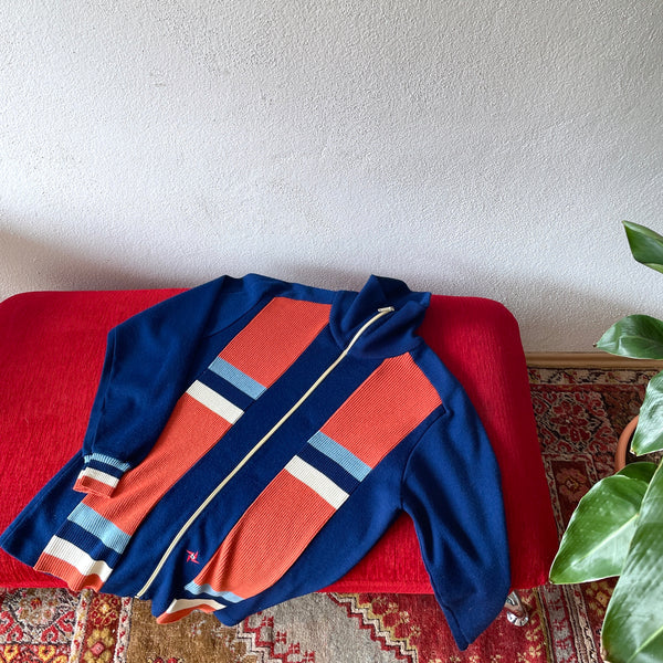 Vintage Diana Crylor Track Top , 70s , Germany