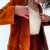 70s Suede tailored jacket