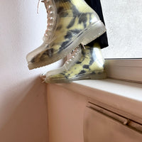 8Hole rubber clear boots