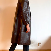 Vintage Leather Chester coat