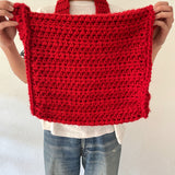 long strap knit bag