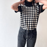 Betty Barclay checkered knit