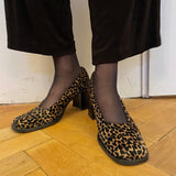 Leopard pattern leather shoes made in Italy