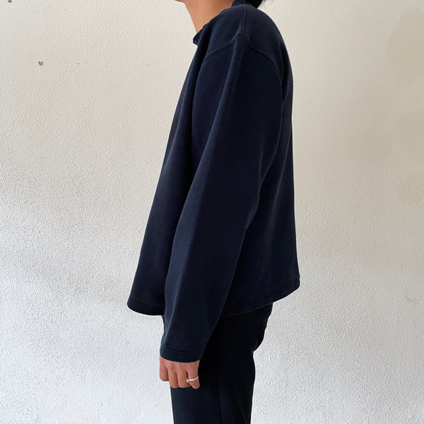 Navy sweat shirt