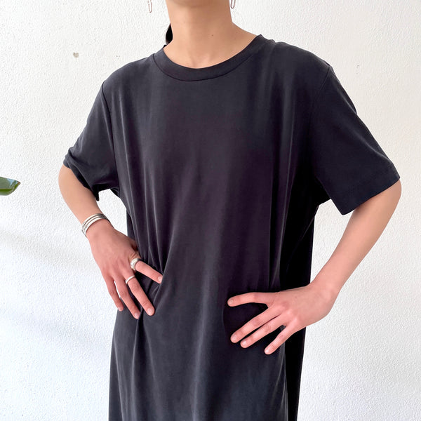 fade black T-shirt dress