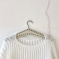 hand knitted white acryl