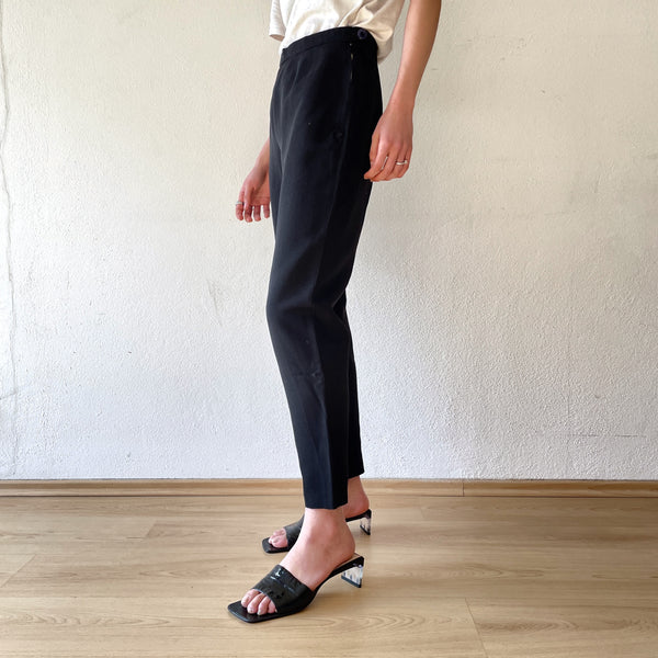 50's black leisure pants