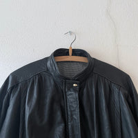 very simple leather jacket