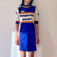 1984's sports dress, Panasonic rider shirt