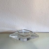 Solid clear glass ash tray