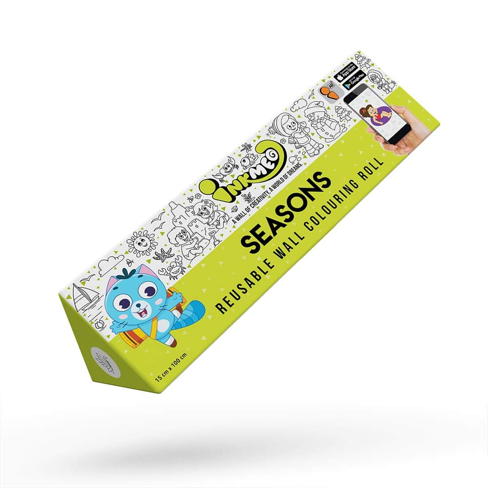 Seasons Reusable Colouring Roll (6 Inch)