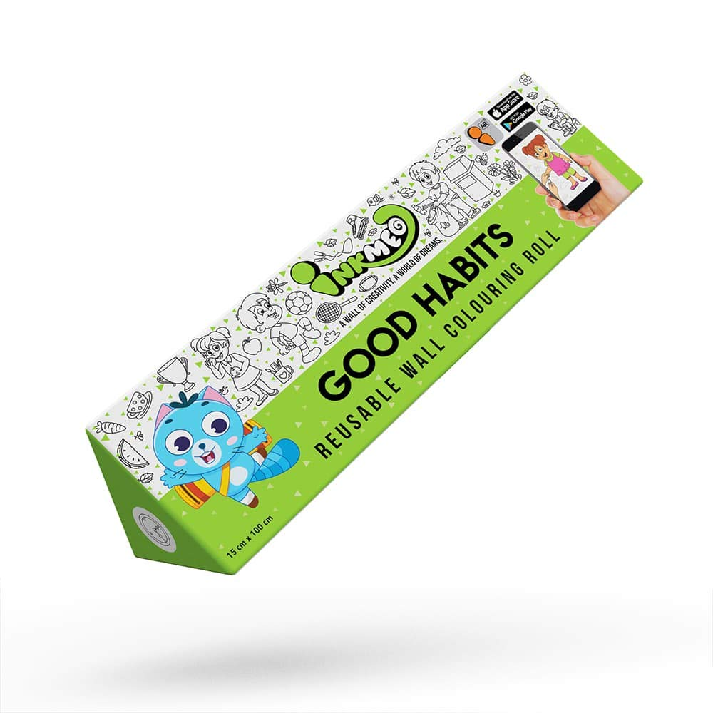 Good Habits Reusable Colouring Roll (6 Inch)