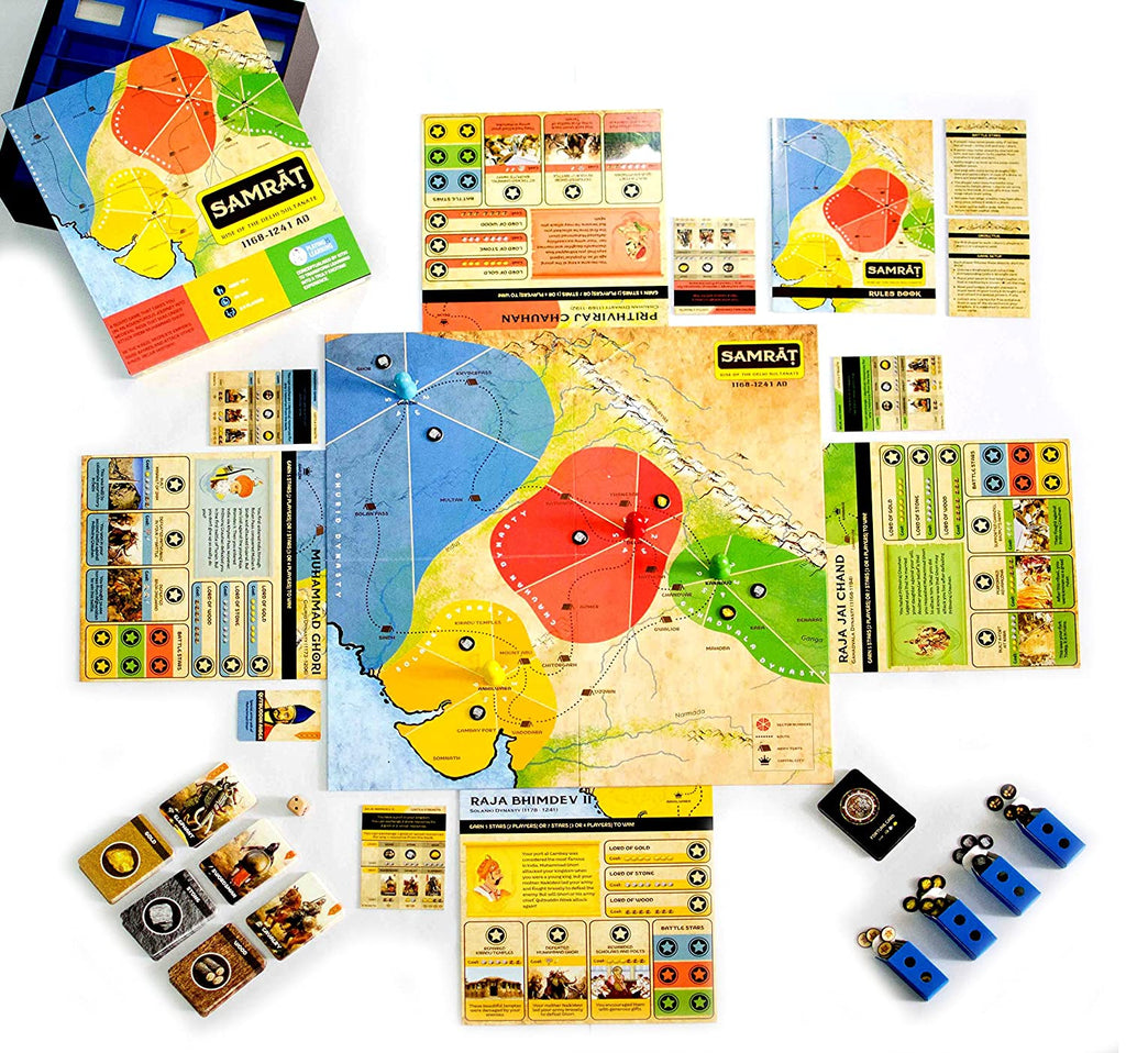 Samrat Board Games for Adults and Kids Based On Real Indian History, 8+ Years