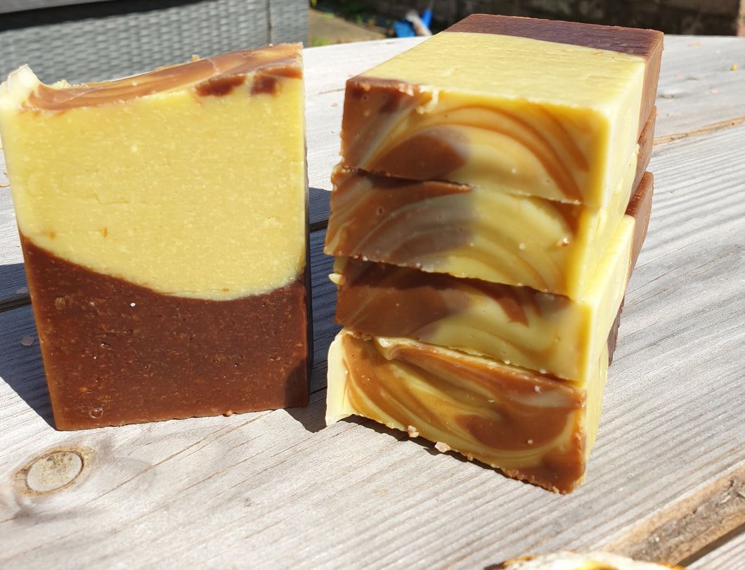Chocolate Orange Oaty Goats Milk Soap 2