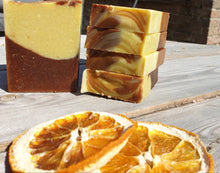 Load image into Gallery viewer, Chocolate Orange Oaty Goats Milk Soap 3