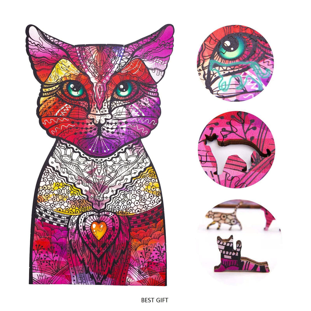 Gosnows™ Rainbow Cat | Magic Wooden Jigsaw Puzzle