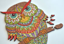 Load image into Gallery viewer, Rainbow Owl - Magic Wooden Jigsaw Puzzle